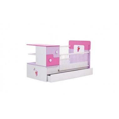 Πολυμορφική Κούνια 80X180 Porky Girl