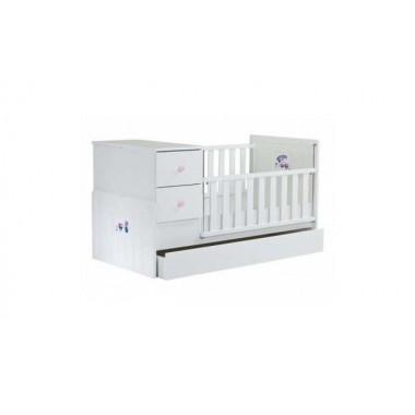 Πολυμορφική Κούνια 80X180 Violet 9011-10