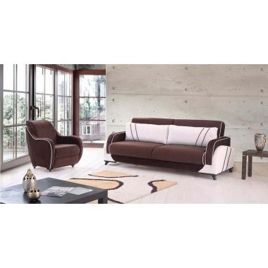 3θέσιος καναπές-κρεβάτι-μπαούλο Double