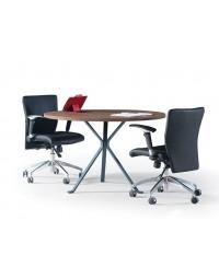 Τραπέζι συνεδρίασης κυκλικό Kelebek με επιφάνεια μελαμίνης και πόδια ηλεκτροστατικής βαφής